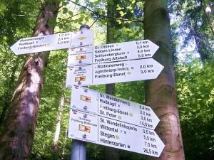 Ausschilderung der Wanderwege durch den Schwarzwaldverein