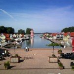 Blick auf das Hafendorf Rheinsberg