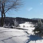 Blick zum Fichtelberg im Winter