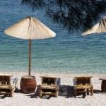 am Strand in Rovinj/Kroatien - © Doris Prueggler / pixelio.de